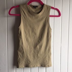 Theory Tan Stretchy Top